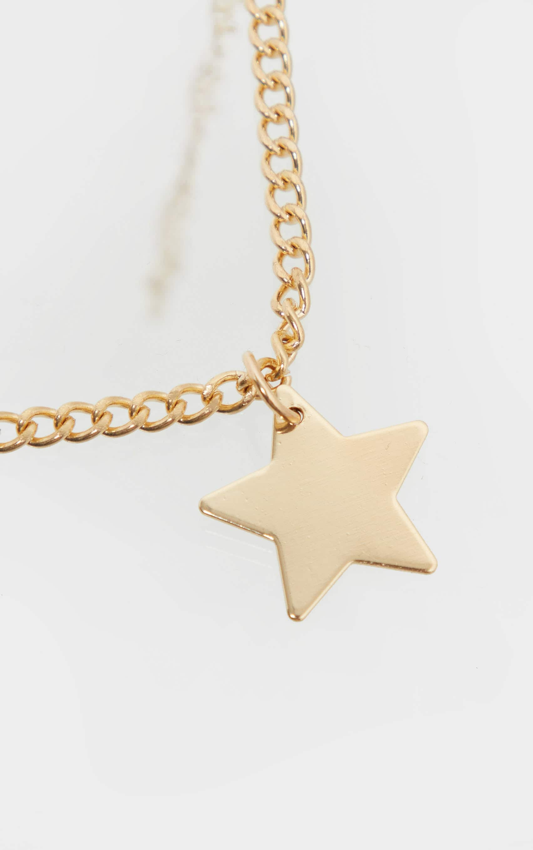 Gold Star Charm Choker Necklace 3