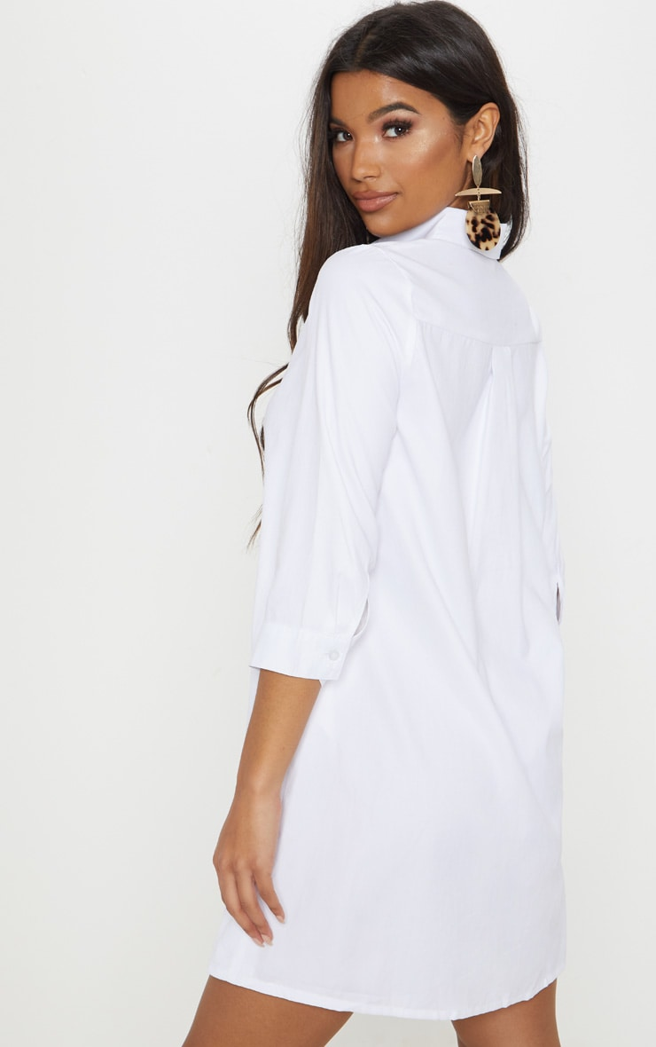 Leni White Shirt Dress 2