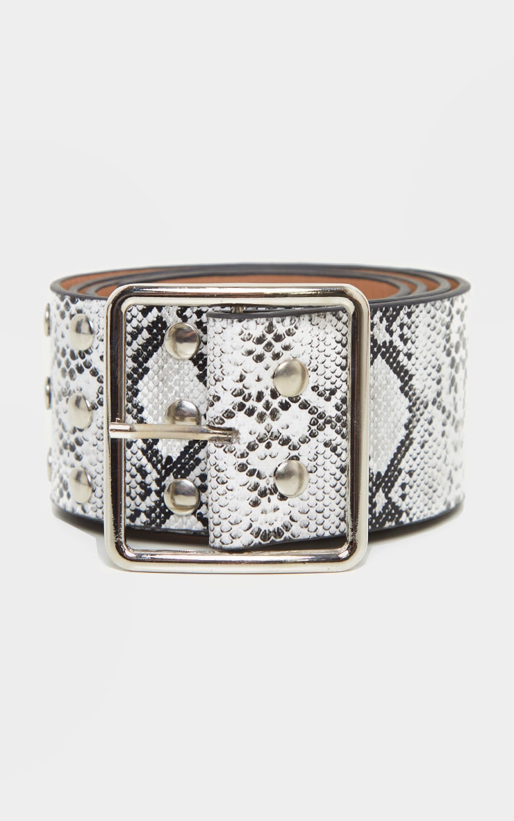Snake Triple Row Studded Belt 2