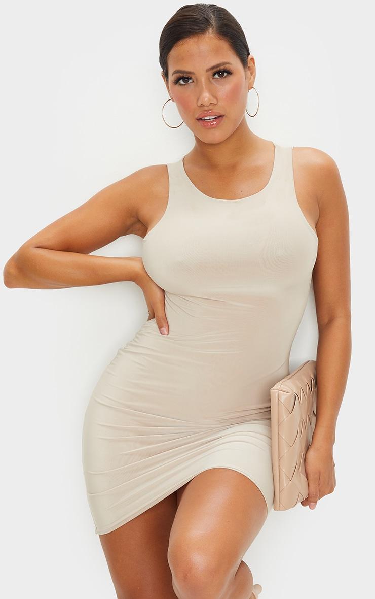 Shape Stone Slinky Sleeveless Bodycon Dress 1