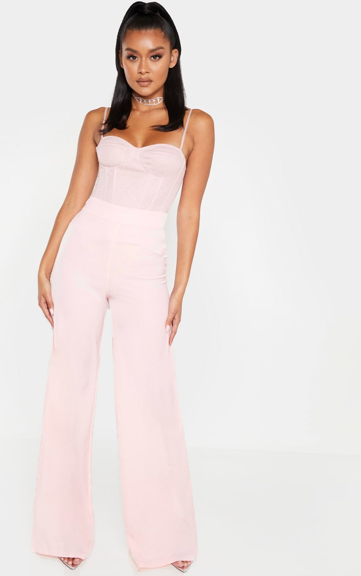 Pink Sparkle Mesh Structured Corset Top 4