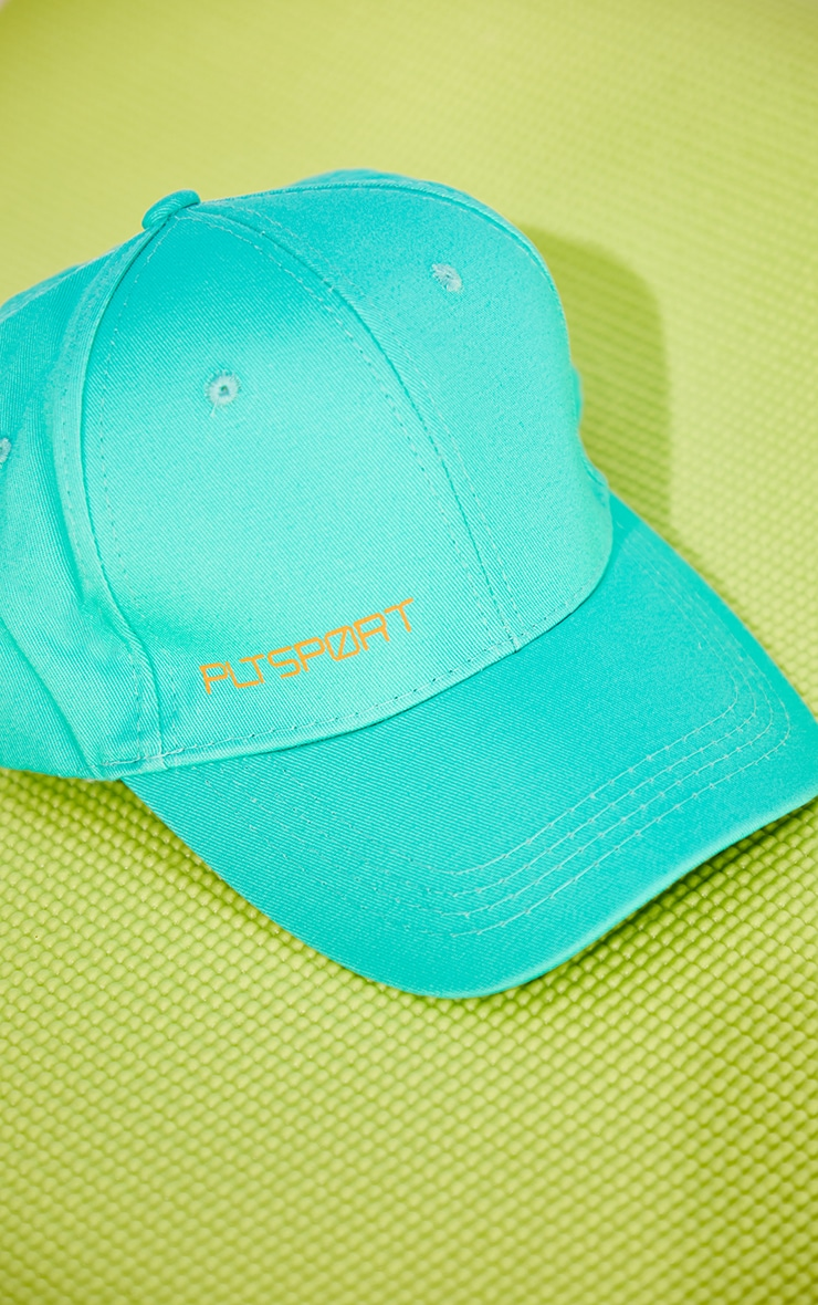 PRETTYLITTLETHING Turquoise Sports Cap 3