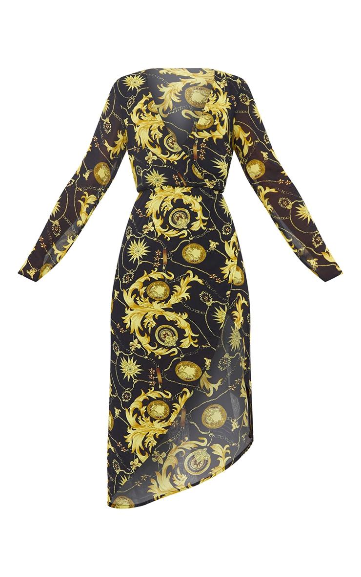 BlackChain Printed Midi Dress 3