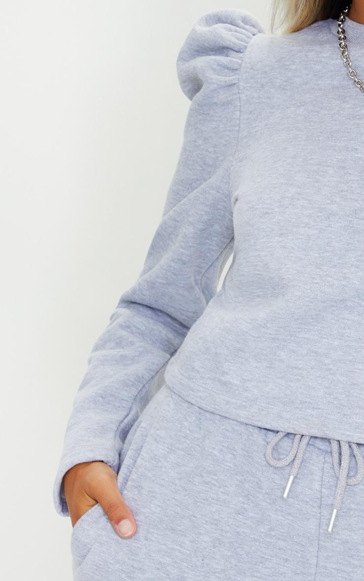 Petite Grey Puff Long Sleeve Sweat 4