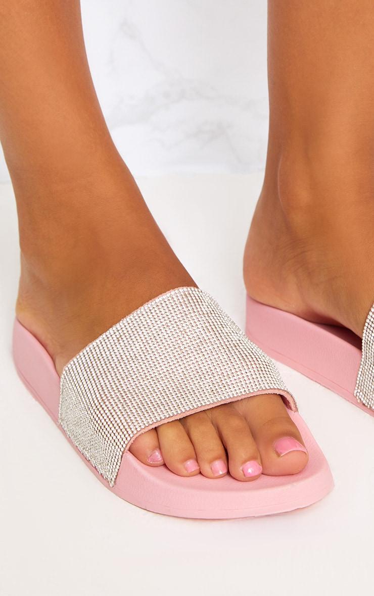 Pink Diamante Sliders 5