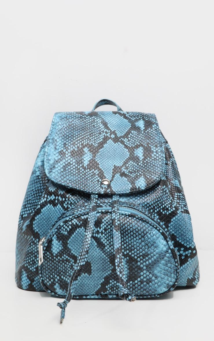 Blue Snake Mini Backpack  4