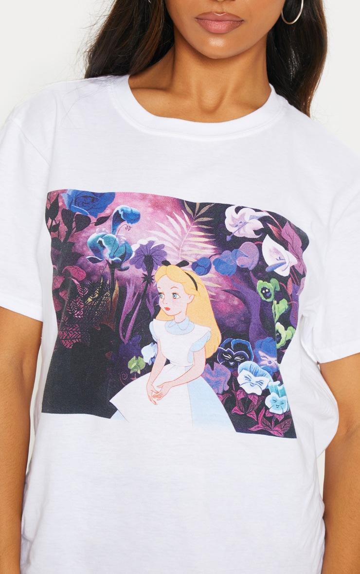 White Snow White Oversized T Shirt  4