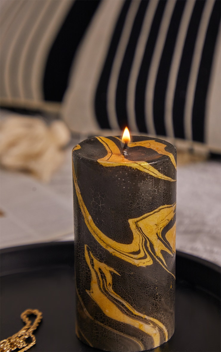 Gold Marble Candle 3