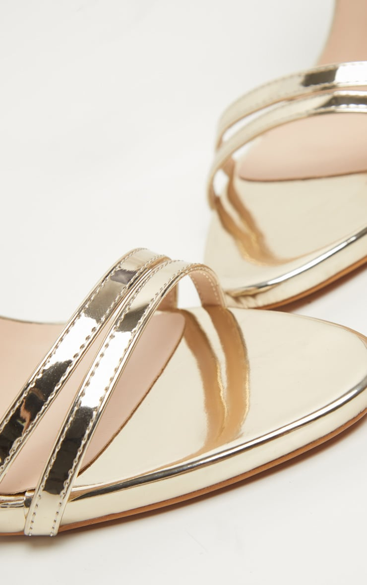 Gold High Strappy Sandal 3