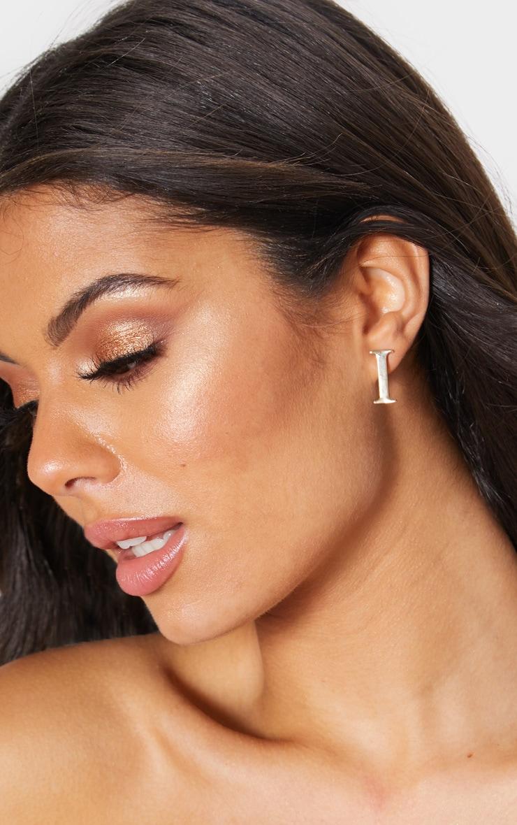 edf2d88b9 Gold I Letter Stud Earrings | PrettyLittleThing USA