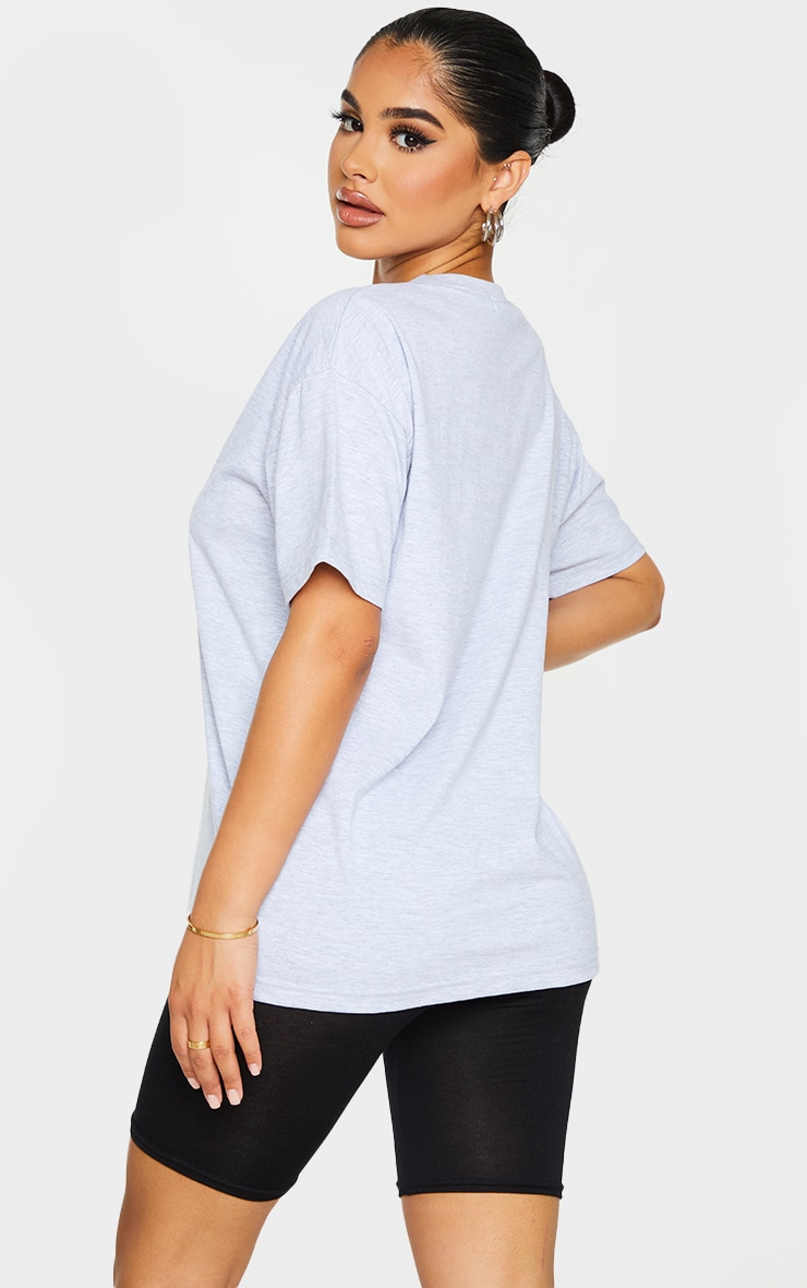 Petite Grey Oversized Boyfriend T Shirt 2
