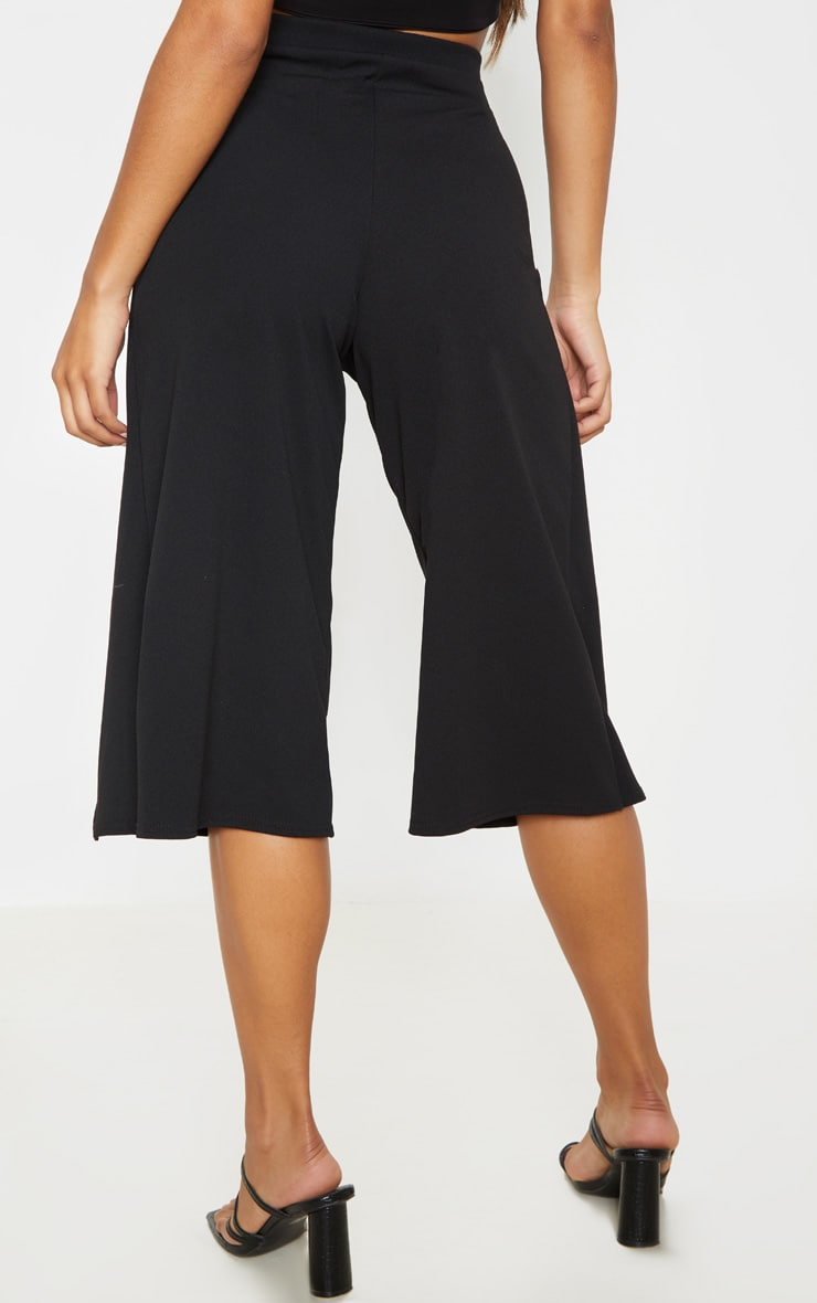Jupe-culotte portefeuille noire 4