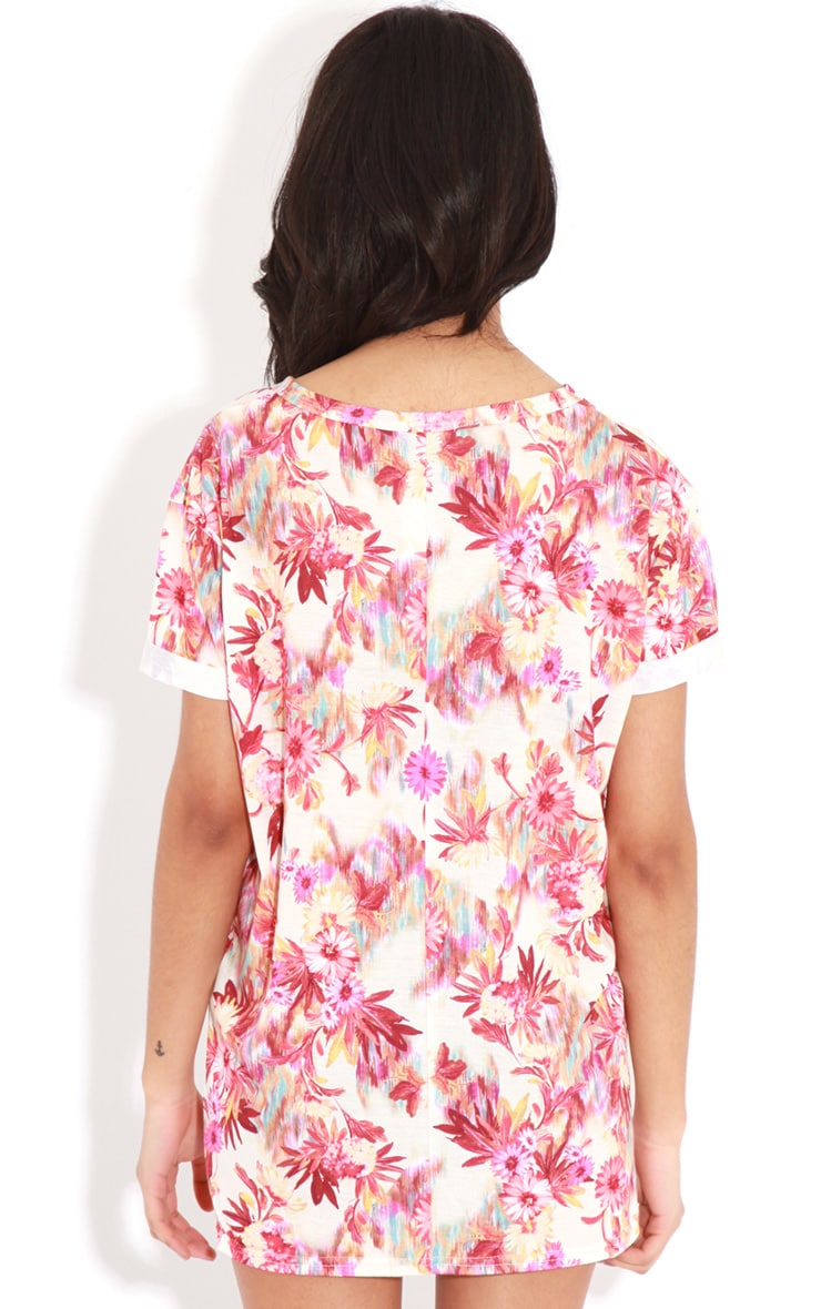 Layla Red Floral Florida 76 Sports Tee  2
