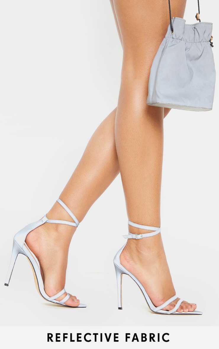 Reflective Point Toe Strappy Sandal 1