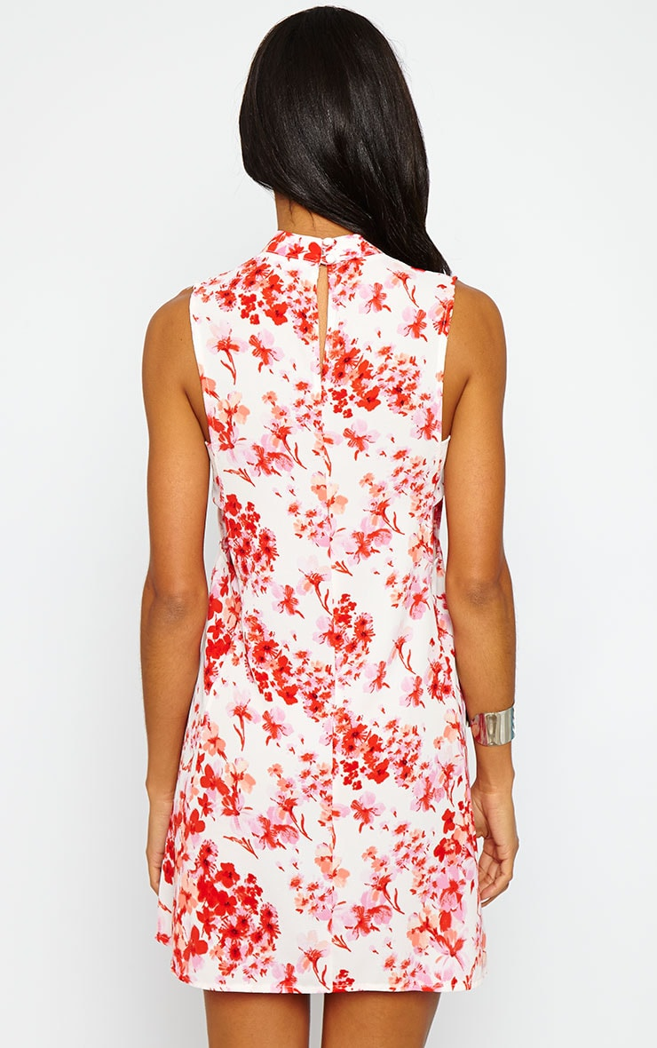Rina Floral Cut Out Tabard Dress 2