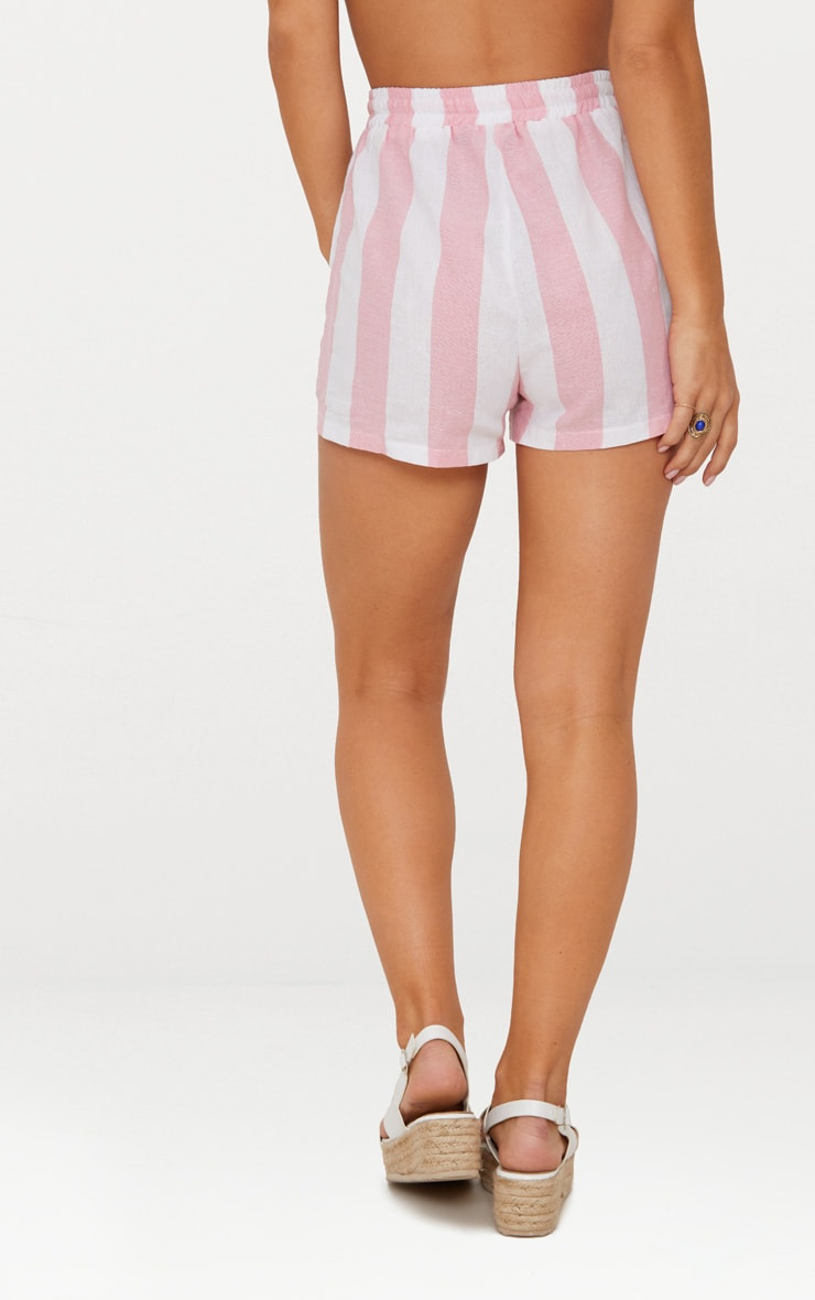 Pink Cotton Candy Stripe Shorts 4
