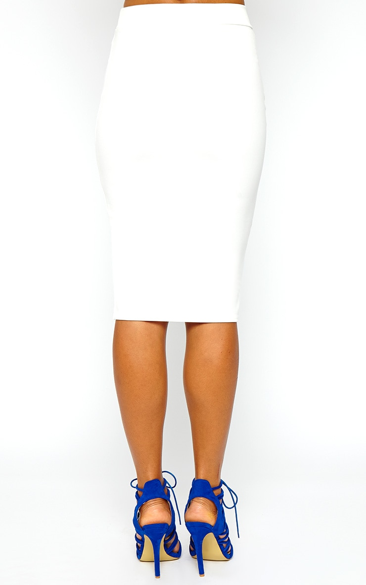 Janine Cream Midi Skirt 3