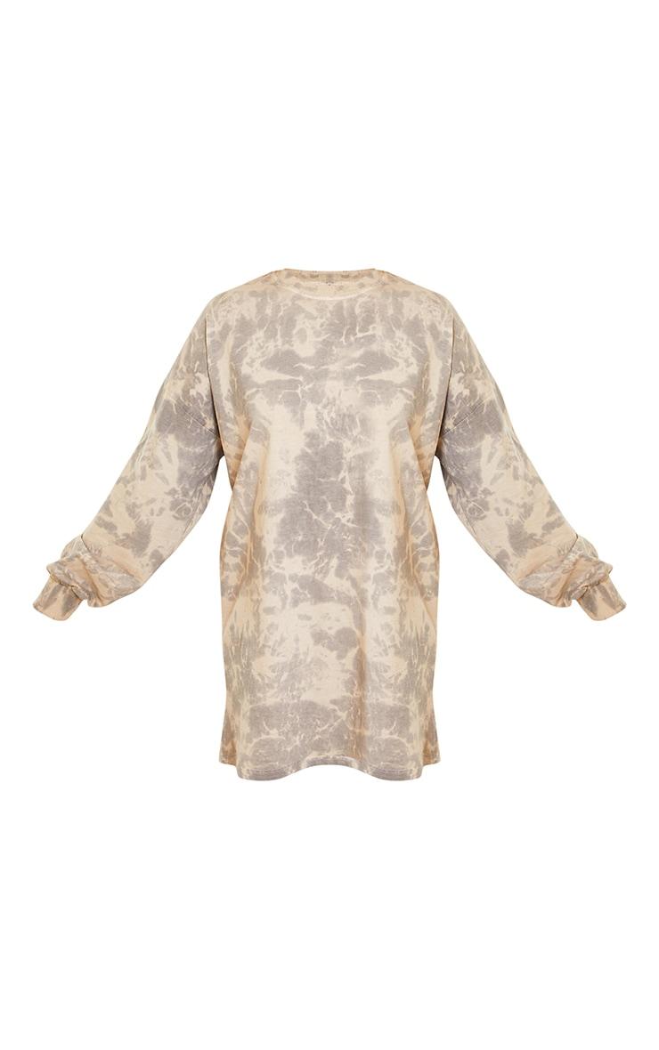 Stone Long Sleeve Tie Dye T Shirt Dress 5