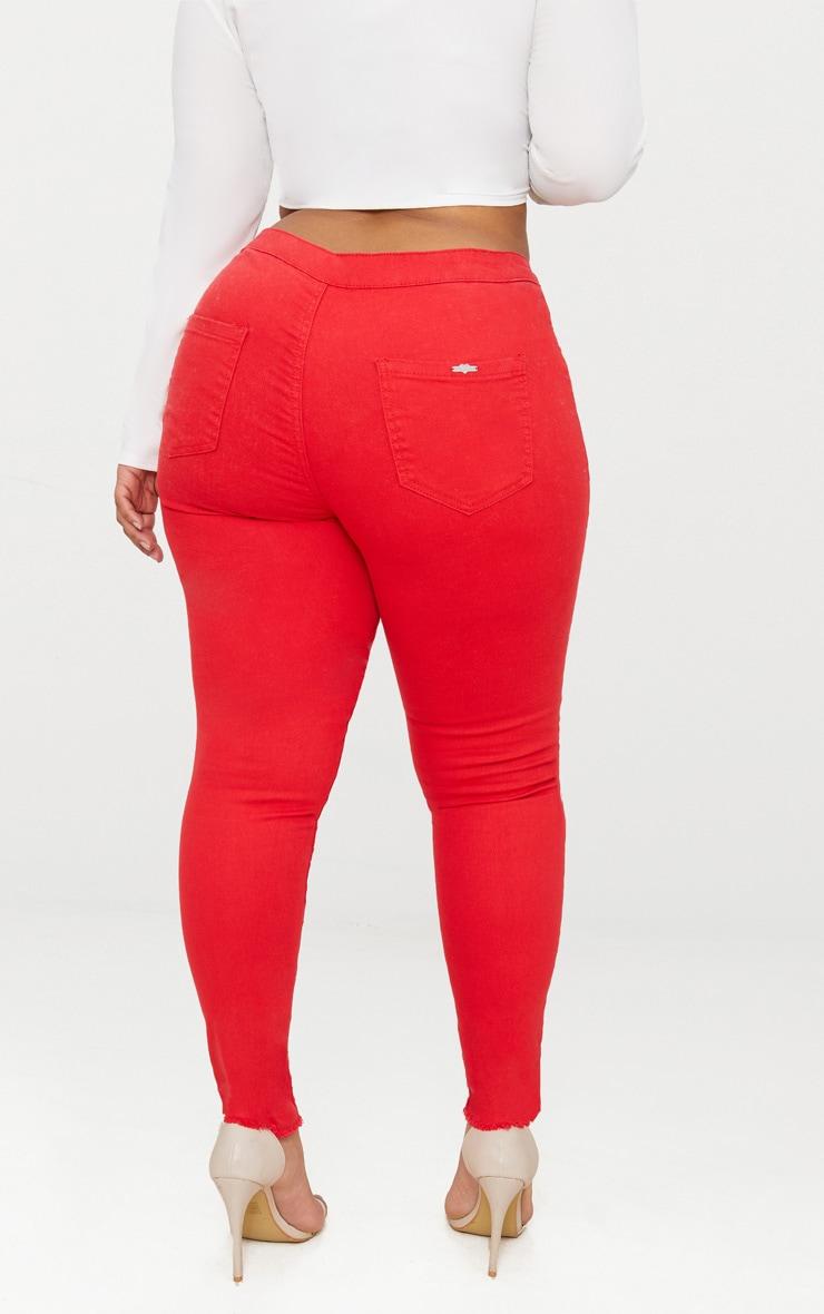 Plus Red Disco Skinny Jeans 4