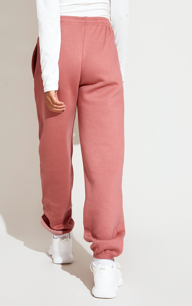 PRETTYLITTLETHING Dusty Pink Washed Jogger 3
