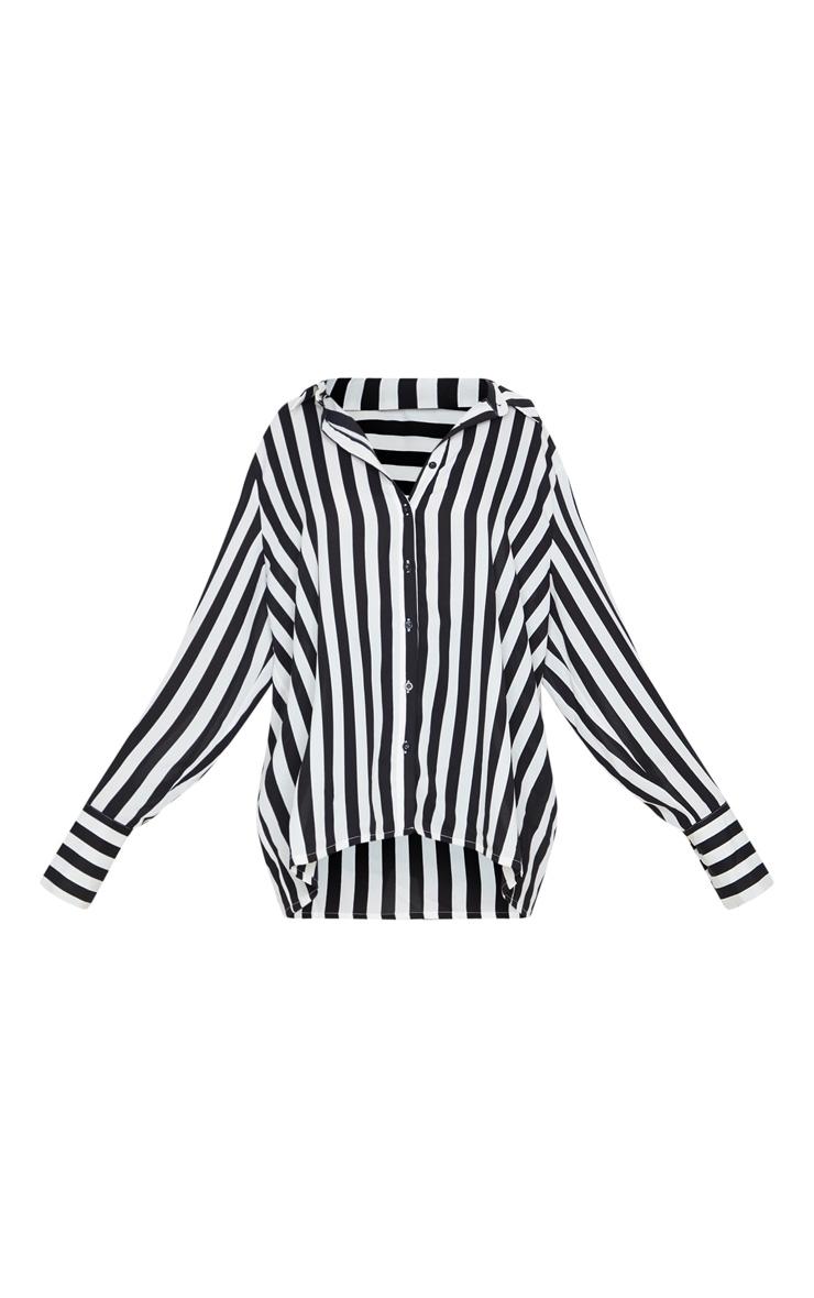 Mono Stripe Oversized Cuff Shirt 3