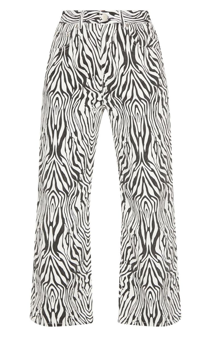 Zebra Wide Leg Utility Cropped Jeans 3