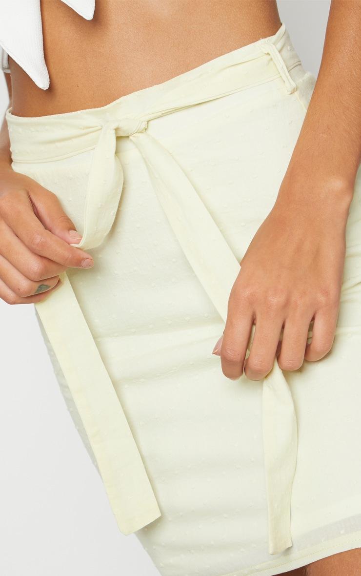Lemon Textured Mini Skirt 6