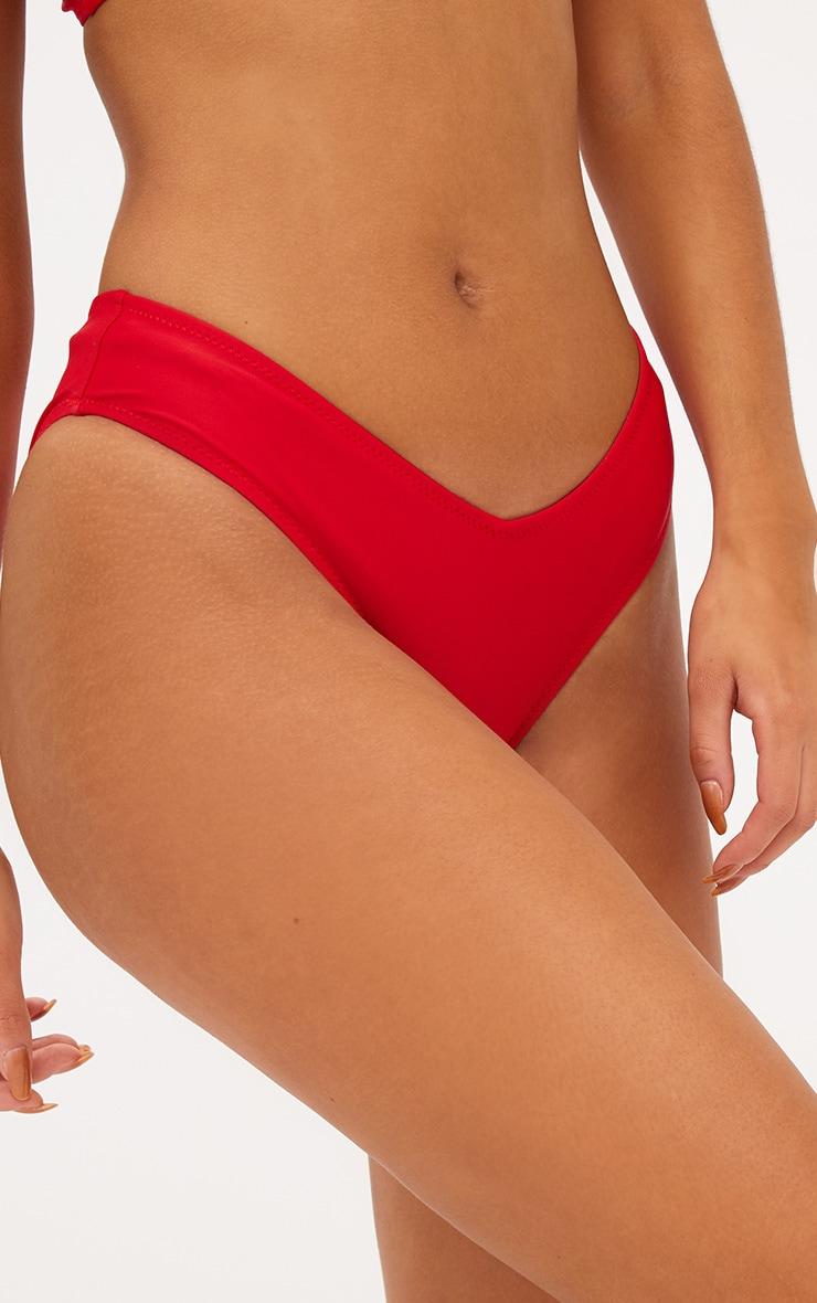 Red V Front Bikini Bottoms 6