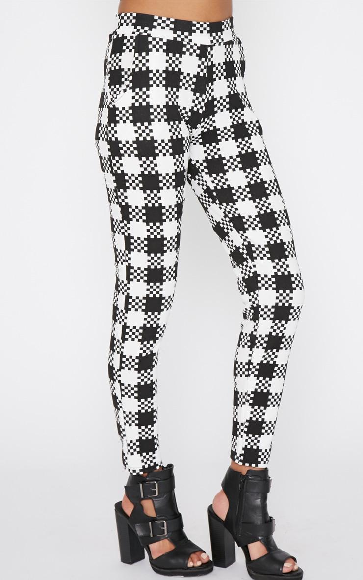 Shiri Monochrome Dogtooth Trouser 3