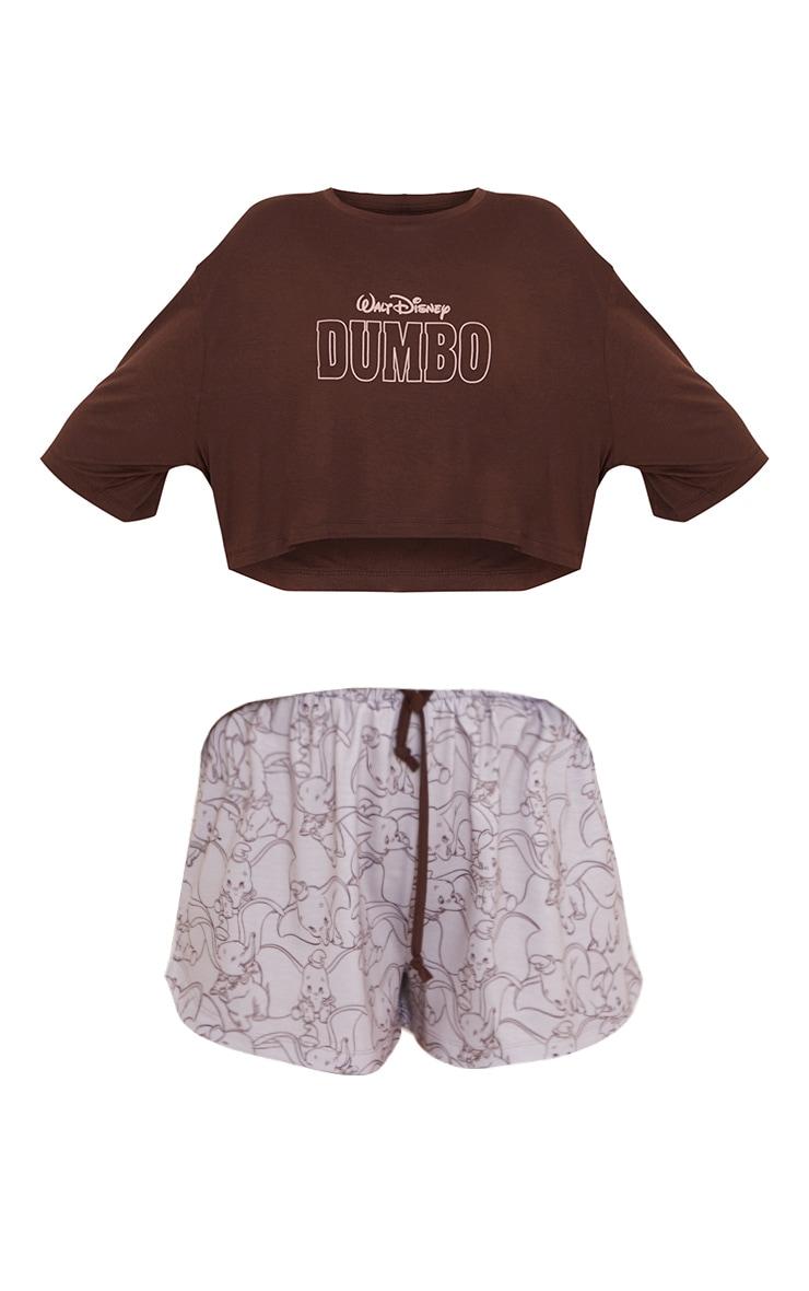 Brown Disney Dumbo T-Shirt And Shorts PJ Set 5