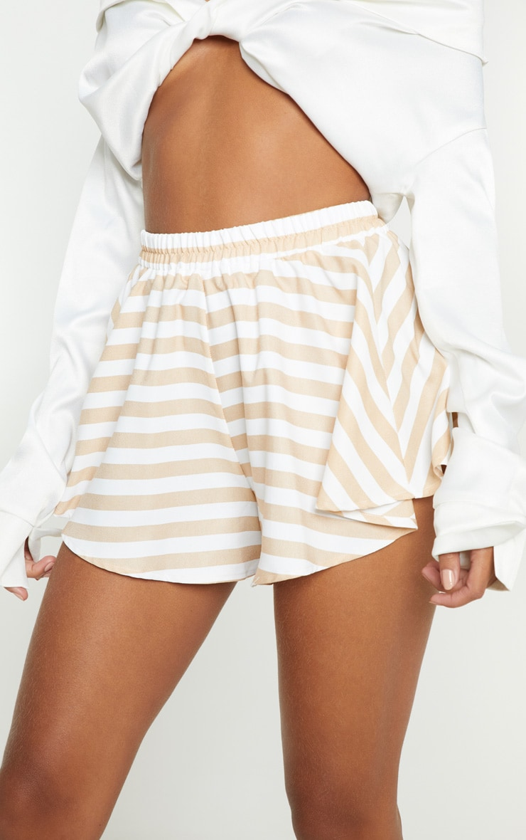 Taupe Stripe Floaty Short 6