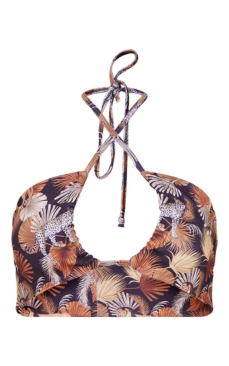 Multi Mixed Animal Triangle Bikini Top 5