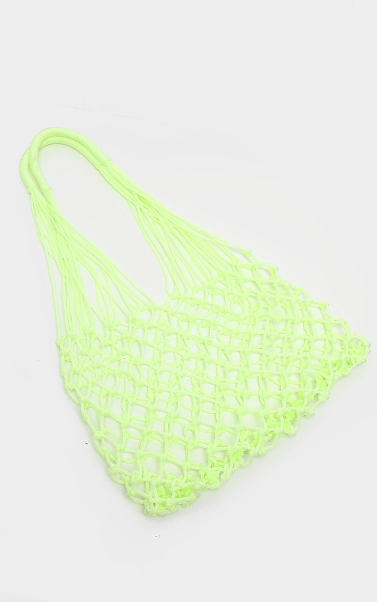 Lime Net Woven Tote Bag 2