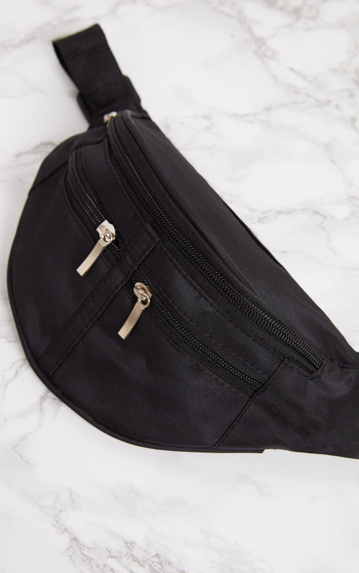 Black Zip Bum Bag 5