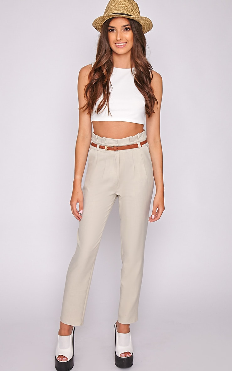 Dolly Beige Tailored Trouser  5