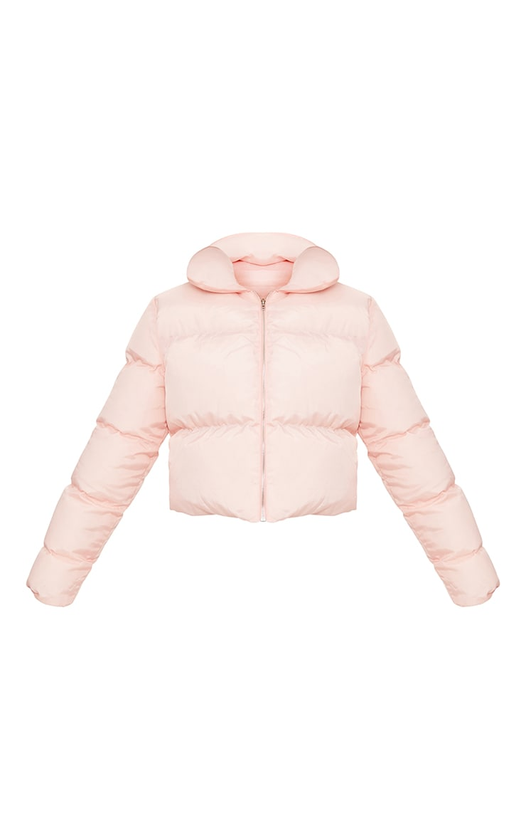 Baby Pink Cropped Puffer Jacket 3