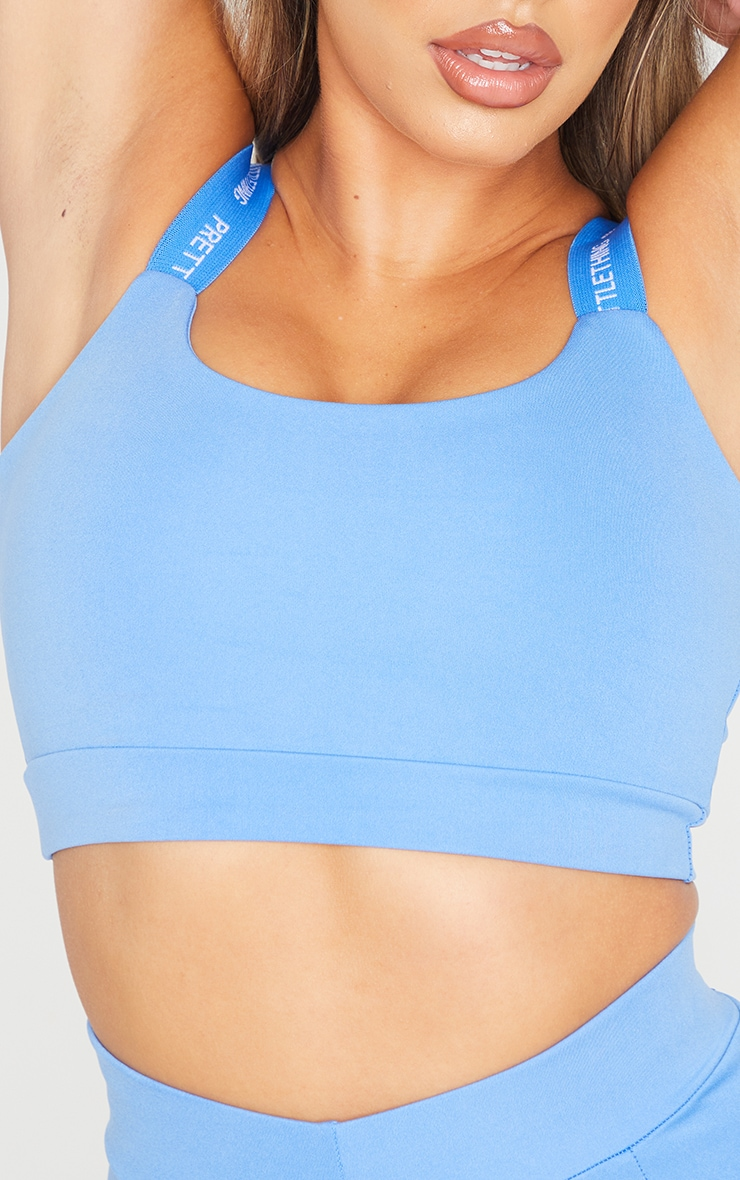 PRETTYLITTLETHING Blue Sport Cropped Top 4