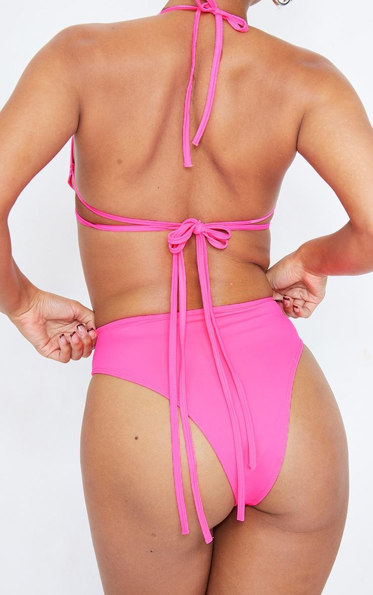 Hot Pink High Waisted Cheeky Bum BikiniBottom 5