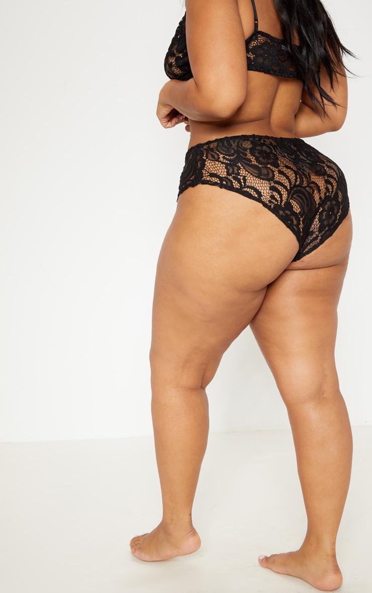 PLT Plus - Culotte noire à ourlet festonné 4