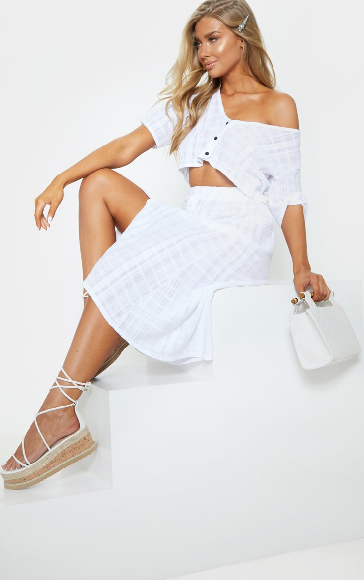 White Button Up Beach Top 1
