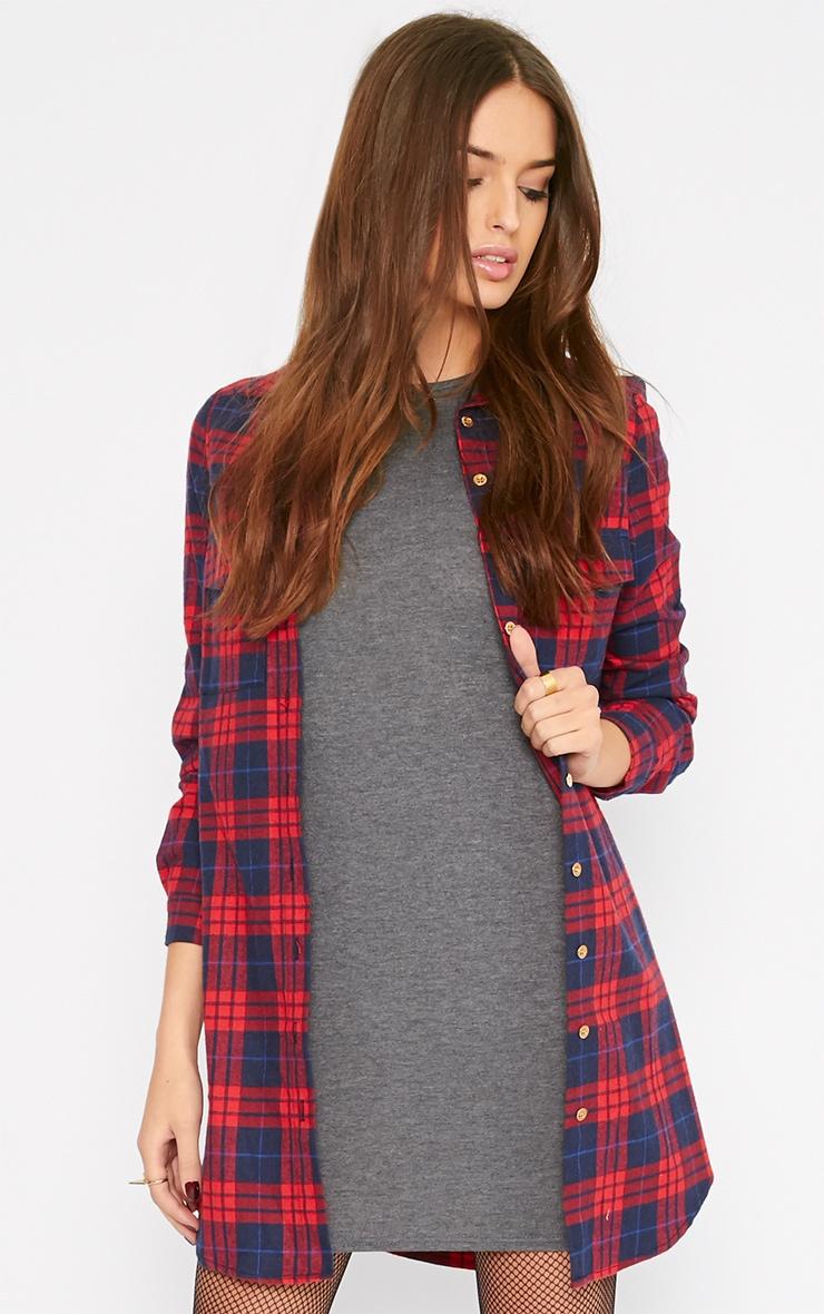Basic Charcoal Jersey Dress 3