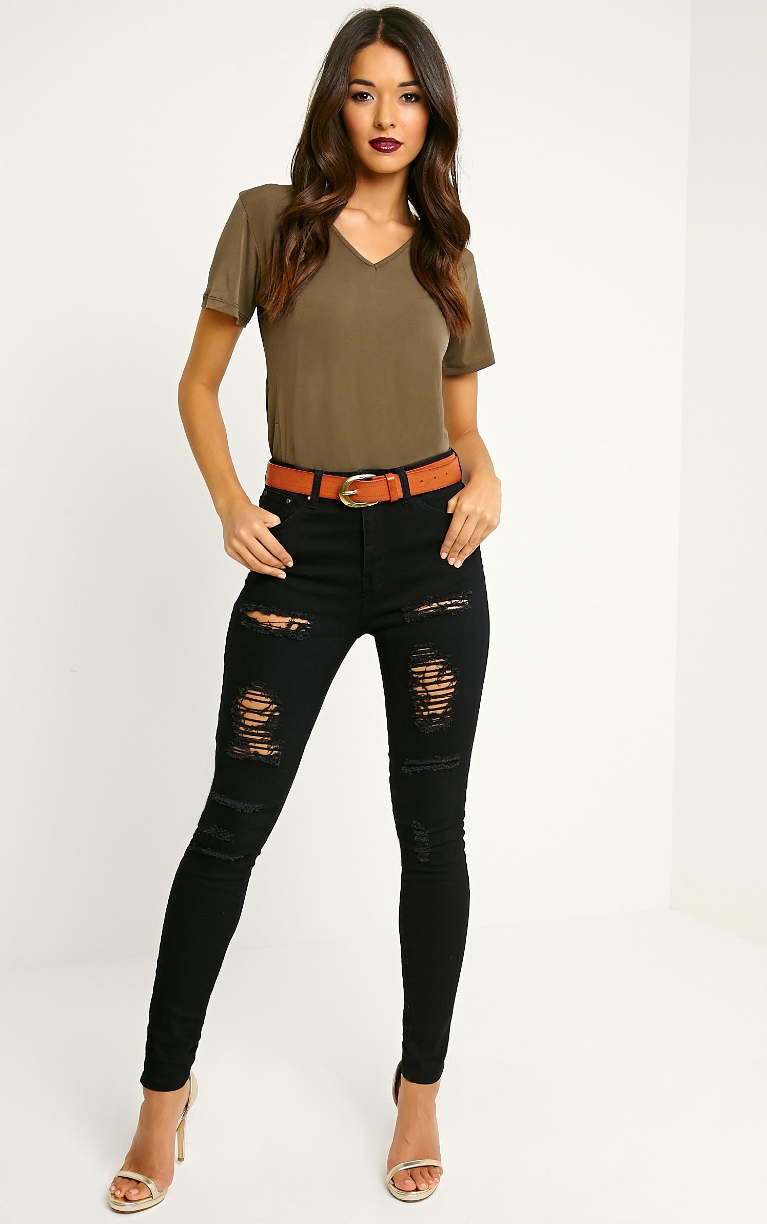 Helene Tan Wide Leather Belt 4