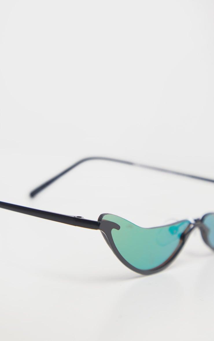 Purple Extra Slim Curved Sunglasses 4