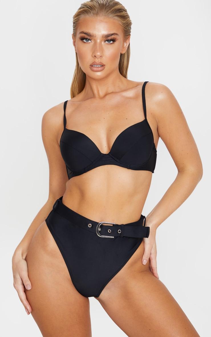 Black Push Up Cupped Bikini Top 1