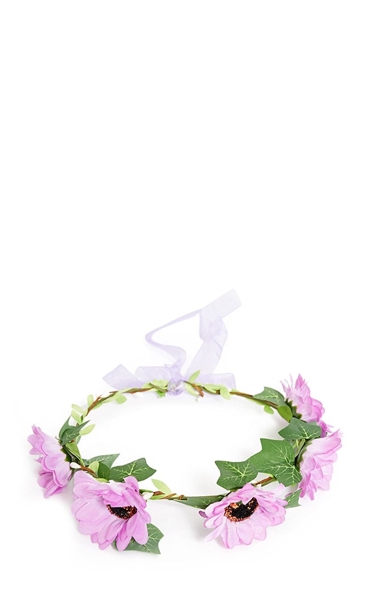Jody Purple Daisy Hair Garland 4