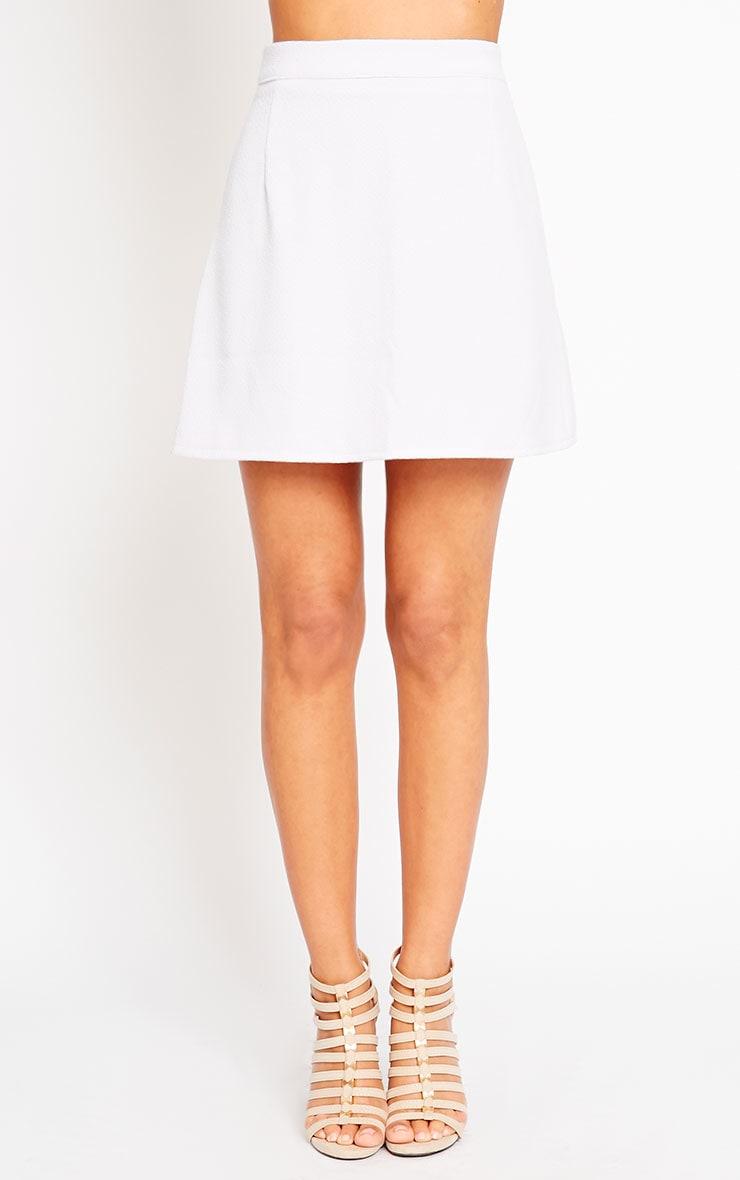 Rori Lilac Crepe A Line Mini Skirt 2