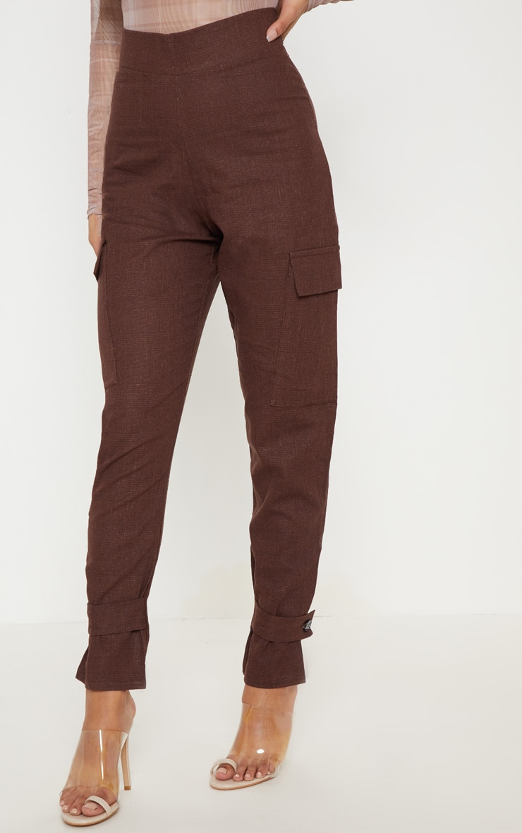 Chocolate Peg Leg Cargo Pocket Trouser 2