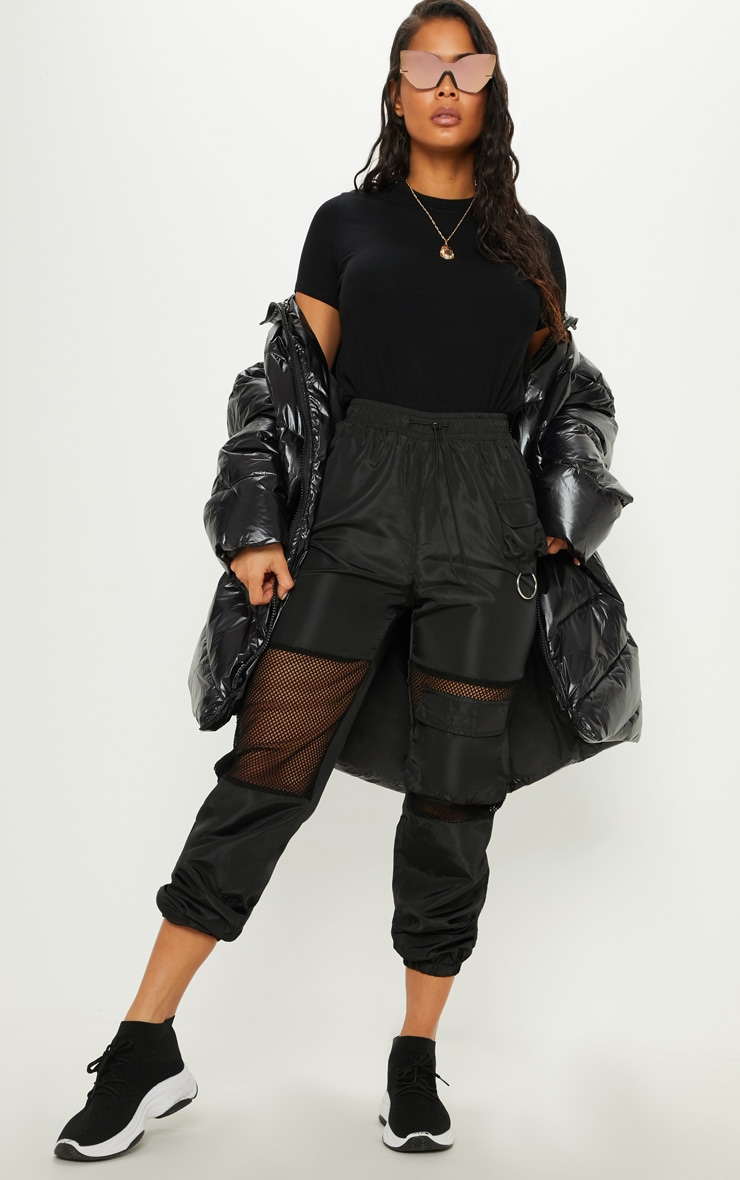 Black  High Shine Oversized Puffer  4