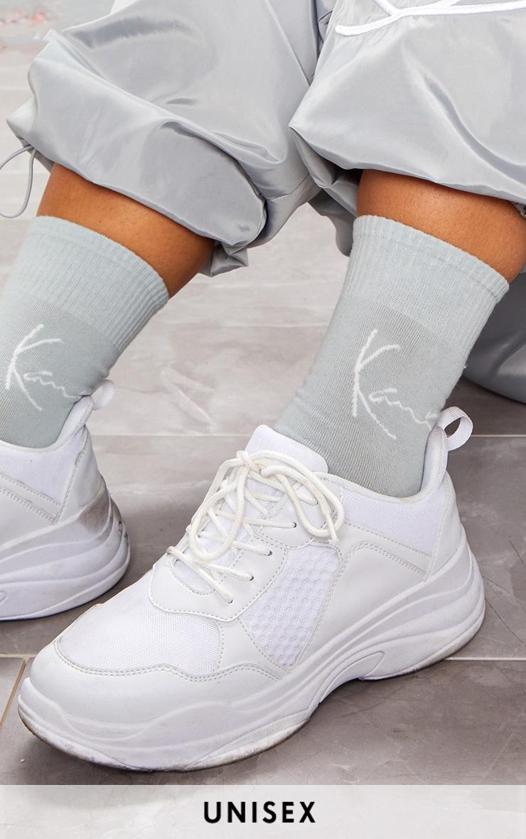 KARL KANI Ice Grey Socks