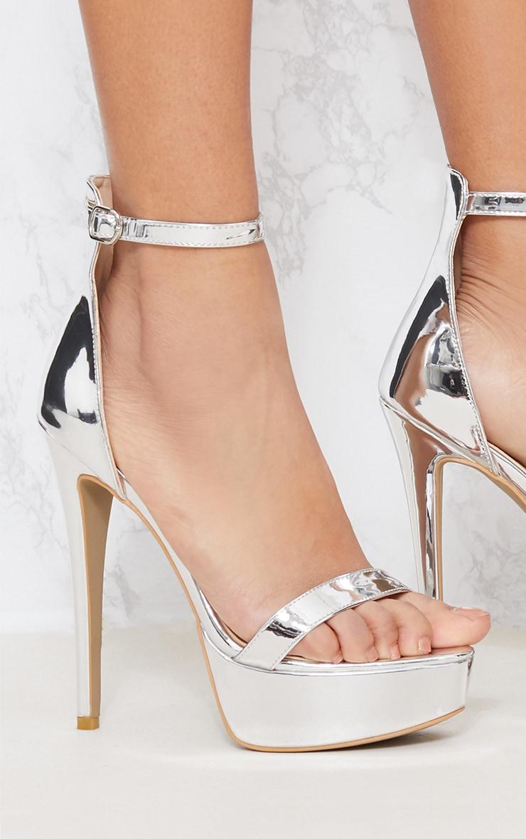 Silver Metallic Platform Sandal 5